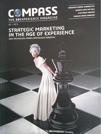 Compass 3D experience strategic marketing magazine cover