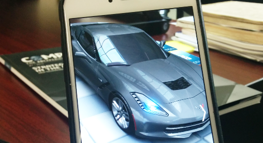 3D marketing to engineers - here's a 3D model of a Corvette
