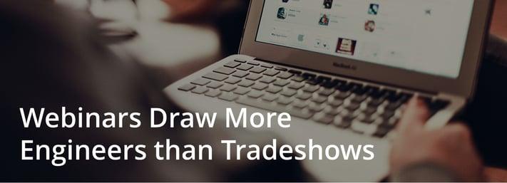 are webinars better than tradeshows?