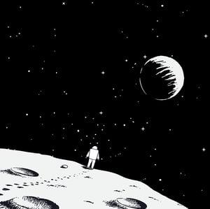 Astronaut Walking Away