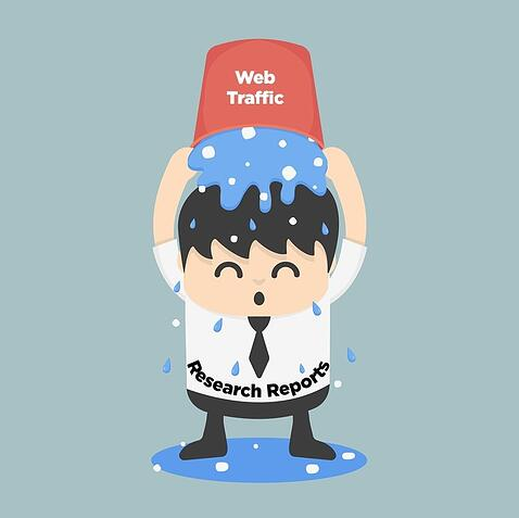 Research Reports = Organic Web Traffic